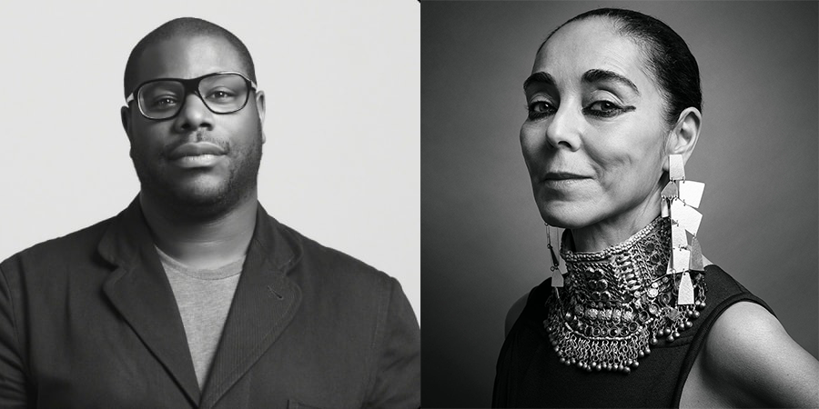 British filmmaker and video artist Steve McQueen (by Marian Goodman) and Iranian visual artist Shirin Neshat (by Inez & Vinoodh), both featured in Arts + Design Thursdays, a public lecture series