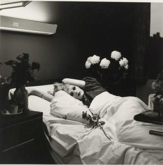 """Candy Darling on Her Deathbed"" (1973). Photo by Peter Hujar"