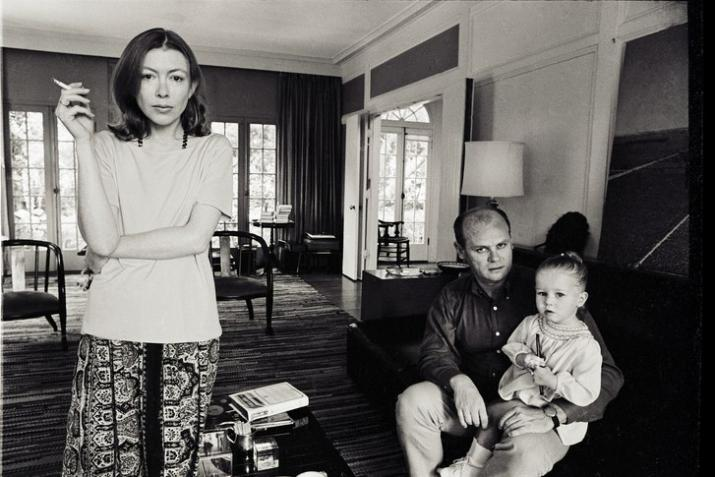 Joan Didion and her family.