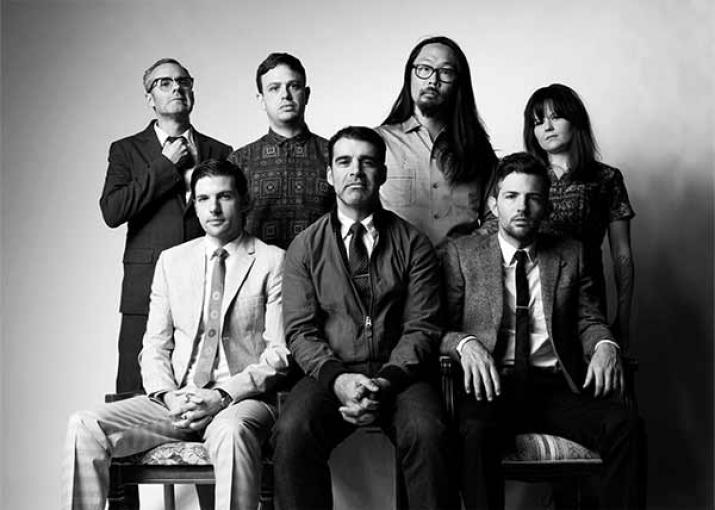 Avett Brothers in black and white.