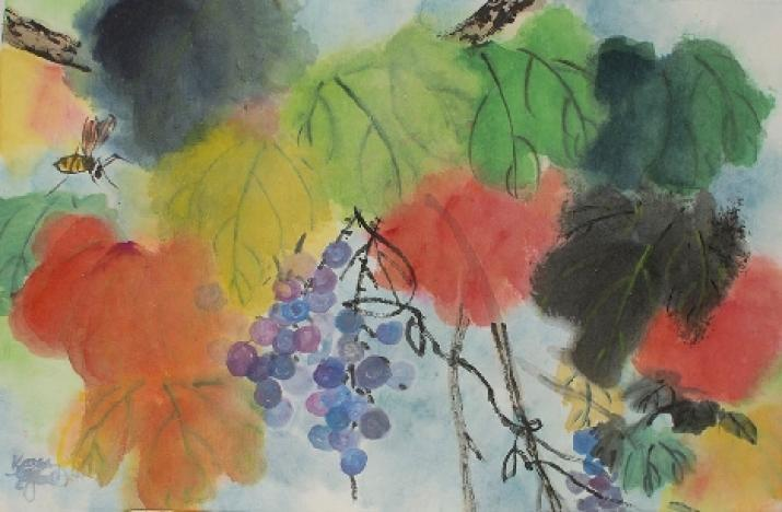 Grape Vine: Brushpainting with Karen LeGault