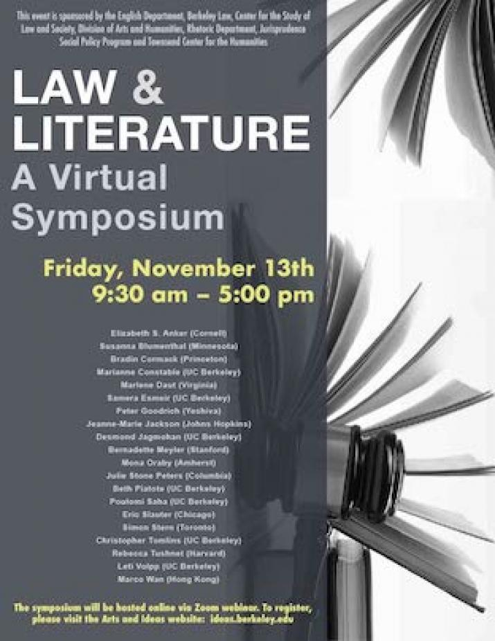 LAW AND LITERATURE: A Virtual Symposium