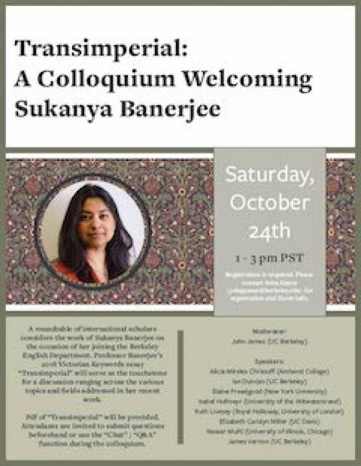 Transimperial: A Colloquium Welcoming Sukanya Banerjee