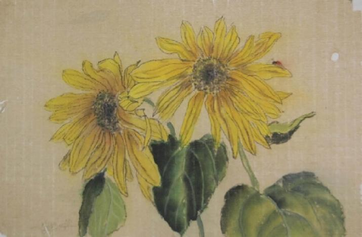 Sunflower: Brushpainting with Karen LeGault
