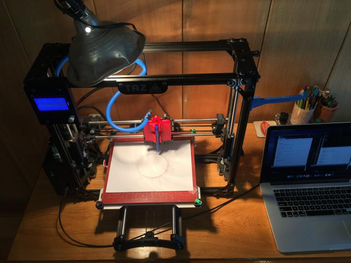 Audio Responsive 3D Printer Drawing Machine
