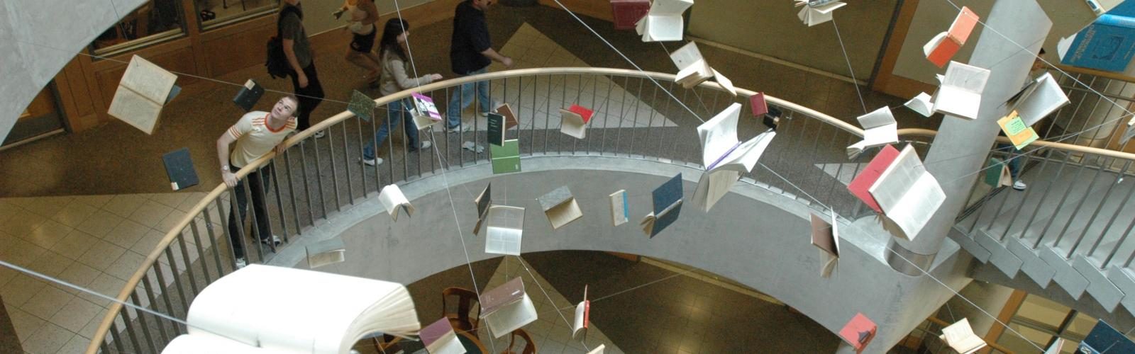 Book installation at library