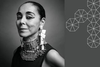 Black and white headshot of Shirin Neshat
