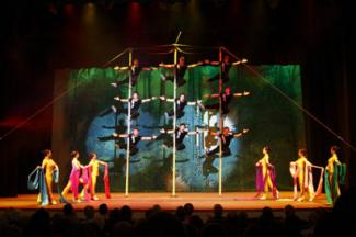 The Peking Acrobats will perform Nov. 29-Dec. 1, 2019, in Zellerbach Hall. (Photo by Tom Meinhold)