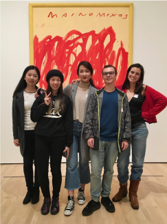 The Arts Passport team: industrial engineering students Luna Izpisua Rodriguez, Alexandre Vincent, Yuyang (Raina) Pan, and Jiahe Zhou, and civil engineering student Shuo Chang.