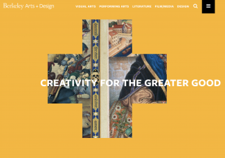 Arts and design website page image