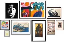 Artworks by Chagall, Manet and Kandinsky.