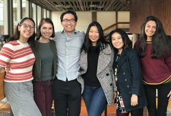 Front Row students, left to right: Kate Montana, Anna Bruns, Dylan Stover, Shannon Hong, Dianne Chung, Salwa Meghjee