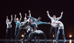 "Hubbard Street Dance Chicago perform Crystal Pite's ""Grace Engine."""